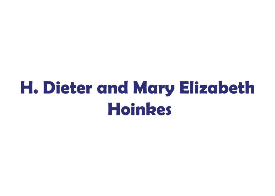 H Dieter and Mary Lib Hoinkes